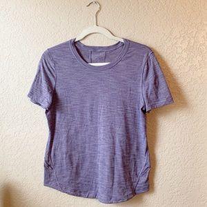 Lululemon Heathered purple short sleeve tee shirt